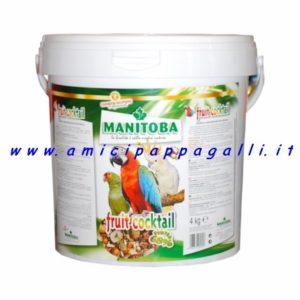 fruitcocktail manitoba frutta essicata per tutti i pappagalli di media e grande taglia