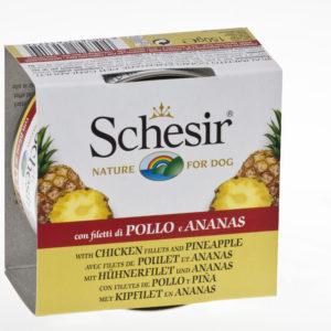 schesir dog pollo ananas cibo umido cane