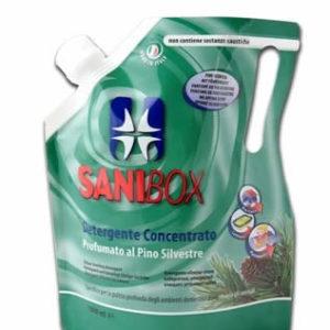 sanibox pino silvestre per pulire ambienti ove soggiornano gli animali