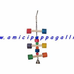 gioco in legno vari formati, colori atossici, per pappagalli, amazzone, parrocchetti