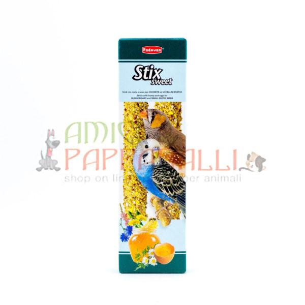 Stix Sweet padovan stick snack per cocorite, per esotici, per pappagallini, per diamantini, diamanti di gould