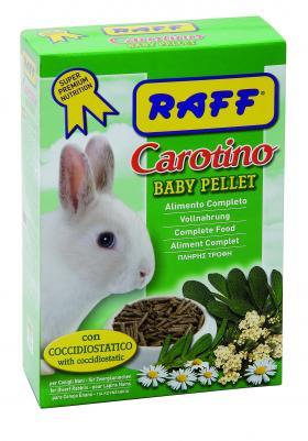 raff carotino baby pellet per conigli nani piccoli