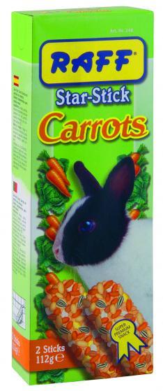 raff star stick carrots snack per coniglio nano