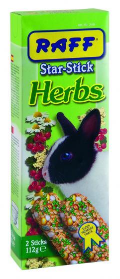 faff star stick herbs snack per coniglio nano