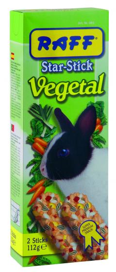 raff star stick vegetal snack per coniglio nano