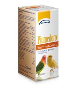 formevet piumedoro vitamine per uccelli