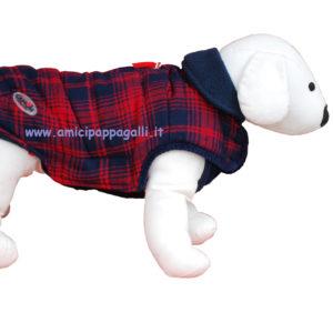 Cappottino Cambridge Camon, tessuto scozzese, interno in pile, per cane, camon.