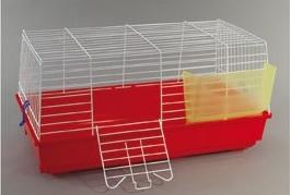 gabbia cavia 2 rossa per conigli nani domus molinari
