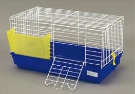 gabbia cavia 2 blu per conigli nani domus molinari