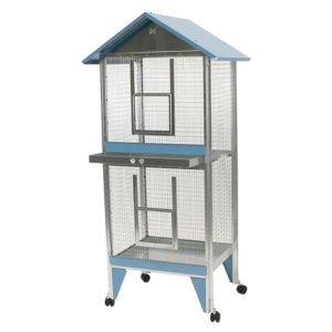 voliera casetta 2 piani per uccelli, inseparabili, canarini, pappagalli da esterno