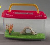 acquario in plastica per pesci rossi con panorama misura piccola domus molinari