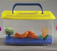 acquario in plastica per pesci rossi con panorama misura media domus molinari