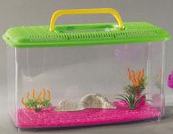 acquario in plastica per pesci rossi con panorama misura large domus molinari