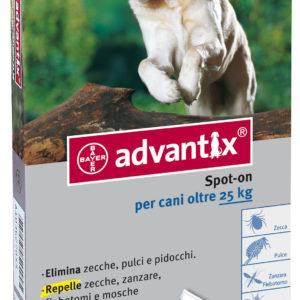 bayer advantix spot on antiparassitario cani oltre 25kg