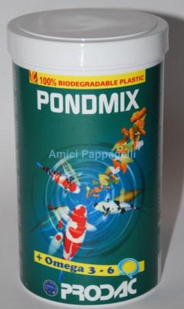 prodac pondmix mangime in pellet e scaglie per pesci da laghetto e rossi
