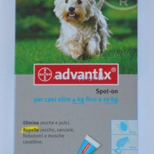bayer advantix spot on antiparassitario cani oltre 4-10kg