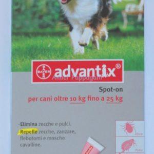 bayer advantix spot on antiparassitario cani 10-25kg