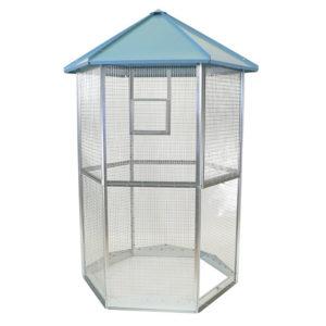 voliera esagonale da esterno per uccelli, inseparabili, canarini, pappagalli