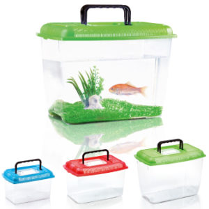 acquario in plastica per pesci rossi con panorama misura large imac