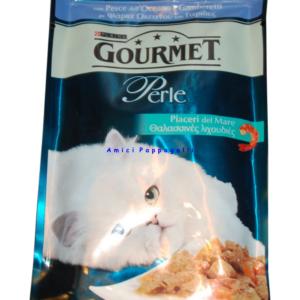 gourmet perle piaceri del mare pesce ell'oceano e gamberetti cibo umido gatto
