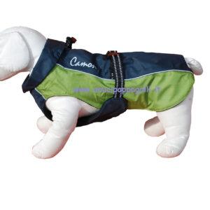 Impermeabile Brema tessuto tecnico, interno pile, coulisse per regolare ampiezza collo per cani camon