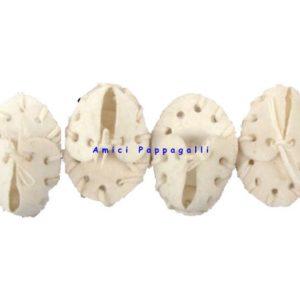 scarpette mini in pelle di bufalo bianco per cane