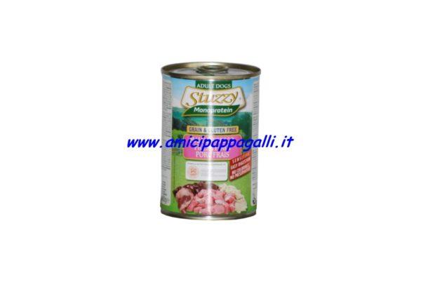 stuzzy monoprotein maiale fresco cibo umido per cani adulti