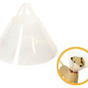 collare elisabetta protettivo per cane collo 12,5cm
