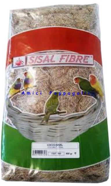 fibra di cocco sisal per nidi esotici, spinus