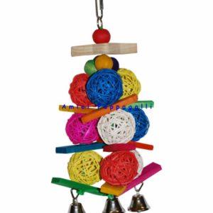 gioco corda e palline per pappagalli, inseparabili, parrocchetti
