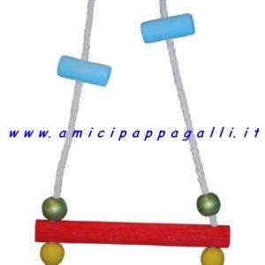 gioco altalena per utti i pappagalli, dondolo con posatoio in legno