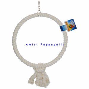 gioco ad anello in corda sisal per pappagalli, parrocchetti