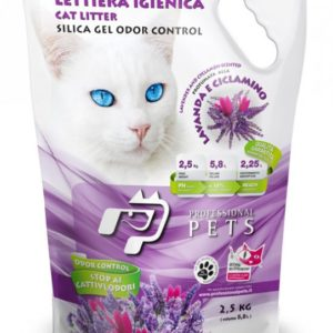 lettiera lavanda in gel di silicio professional pets