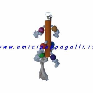 gioco in corda sisal per pappagalli e inseparabili