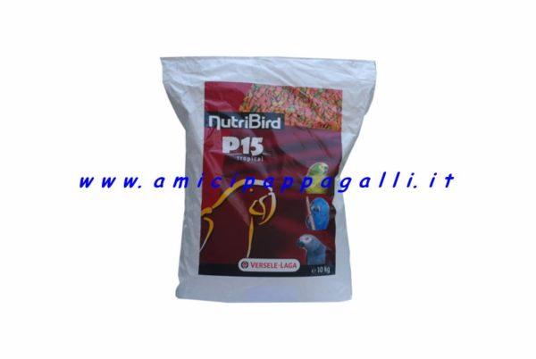 nutribird P15 tropical estuso alla frutta e verdura per pappagalli versele laga