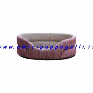 cucce per cane imbottite, in tessuto gessato rosso, per gli ambienti interni