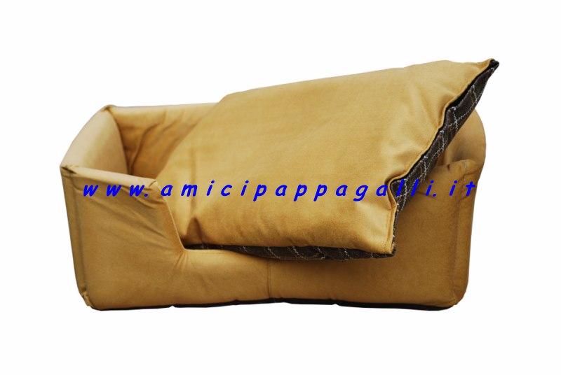 Cuccia rettangolare per cani da interno divanetto giallo - Cuccia per cani interno ...