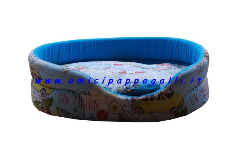 Cucce ovali in tessuto per cani per interni for Cucce per cani in offerta