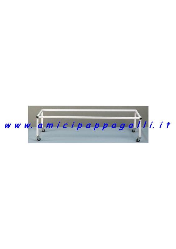 carrello supporto per gabbie 90cm-120 cm domus molinari