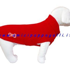maglione rosso fuss dog cane