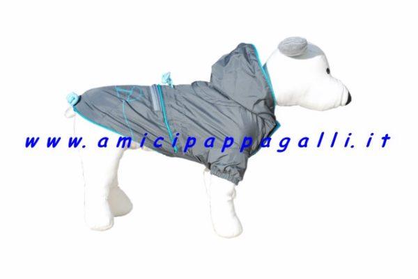 impermeabile kappaway leggero grigio per cani camon