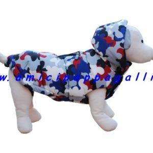 piumino valencia imbottito, cappottino impermeabile, double face, cappuccio staccabile per cani, ditta camon