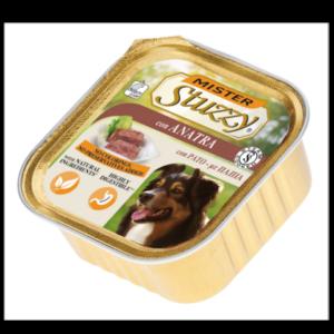 mister stuzzy dog con anatra alimento umido patè in vaschetta senza coloranti e conservanti per cani adulti