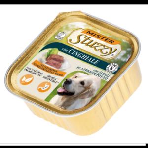mister stuzzy dog con cinghiale alimento umido patè in vaschetta senza coloranti e conservanti per cani adulti