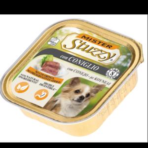 mister stuzzy dog con coniglio cibo umido patè in vaschetta senza coloranti e conservanti per cani adulti