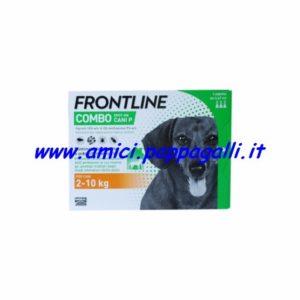 frontline combo cane spot on 2-10kg antiparassitari per cani 4 pipette