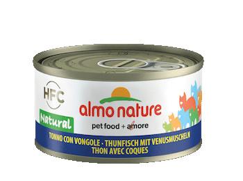 almo nature tonno con vongole HFC natural, alimento umido per gatti adulti