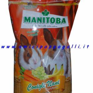 manitoba mangime per conigli e coniglietti nani da affezione miscela speciale