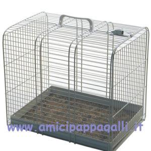 trasporto gatto per auto in rete metallica di colore bianco micio 3 domus molinari, è un trasportino per animali